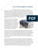 The importance of steel supplies at Mackay