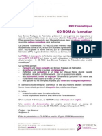 FEBEA Bpf Bonnes Pratiques de Fabrication Formation CD Rom Ific Iso 22716 Gmp Cosmetic 01