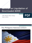 Seminar on Liquidation of Downloaded MOOE
