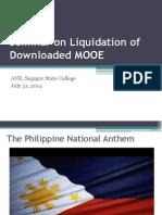 Seminar on Liquidation of Downloaded MOOE