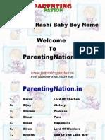 Vrushabh Rashi Baby Boy Names With Meanings