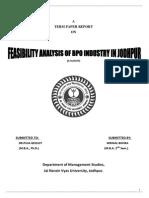 Analysis the feasibilty of BPO in Jodhpur