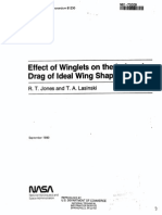 Effect of Winglets on Induced Drag of Ideal Wing Shapes