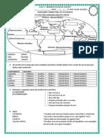 Avaliação de Geografia 2003 5ºano1 Aline