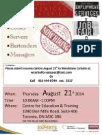 Milagro Job Fair Flyer 21.08.2014