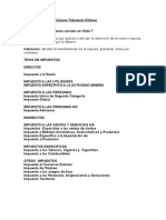 Características Del Sistema Tributario Chileno