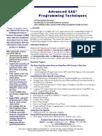 Advanced SAS Programming Seminar Description July 2012 (1)