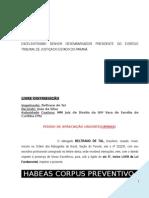 Habeas Corpus Civil Civel Prisao Civil Alimentos Familia Medida Liminar Modelo 297 BC286