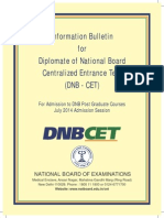 Dnb Cet Book- July 2014