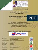 Jagong Mas Travel Sungai Petani Practical Report HM111 HTT302