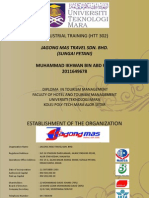Jagong Mas Travel Sungai Petani Practical Report HM111 HTT302