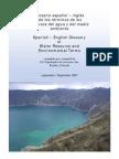 Glosario Espanol – Ingles de Los Terminos de Los Recursos Del Agua y Del Medio Ambiente