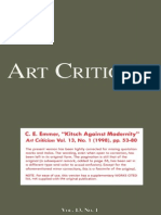 """Emmer, """"Kitsch Against Modernity"""""""