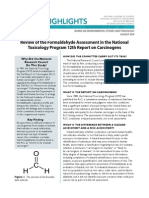Review of the Formaldehyde Assessment in the National Toxicology Program 12th Report on Carcinogens