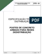 Celtins_etd_01 Postes de Concreto Armado Para Redes de Distribuição