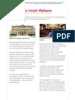 Mental Health Reform Newsletter August 2014