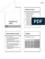 Production Cost Models
