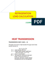 Refrigeration load calculation