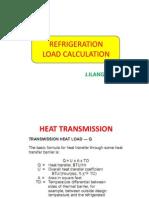 Refrigeration load calculation