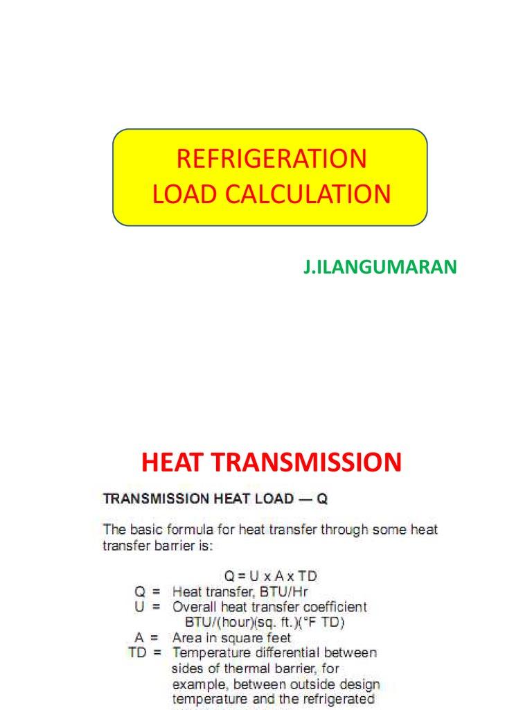 Refrigeration load calculation (:58) on vimeo.