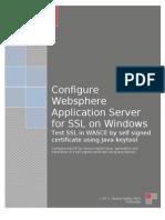 Configure WASCE for SSL by J. M. V. Swamy Naidu - M.C.A.