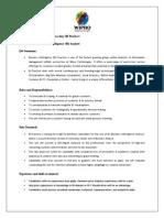 Job Description (BI Visualization & Emerging Technologies)
