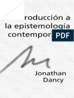 Jonathan Dancy - Introduccion a Epistemologia