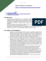 Paradigma Interpretativo Investigacion
