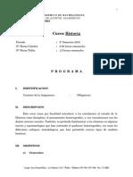 Programa Historia Bachillerato Con Lecturas Destacadas