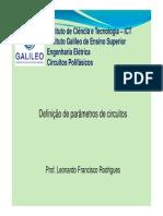 Material 01 - Definições de Parâmetros de Circuitos