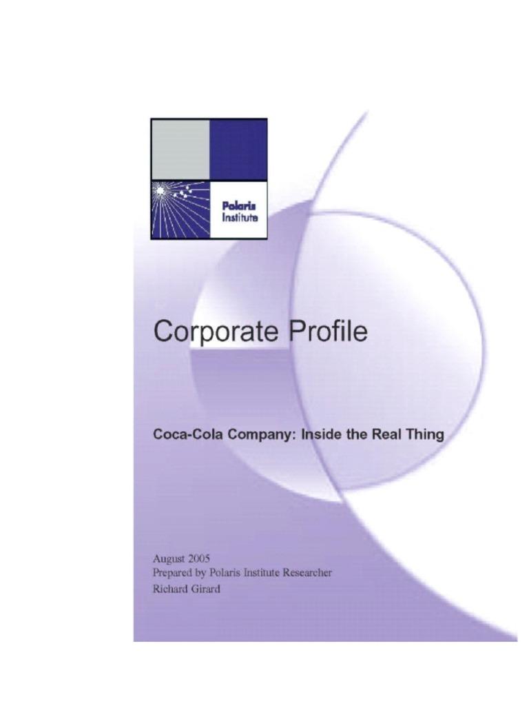 Coca Colaprofile Cola The Company Gilson Bros Wiring Diagram