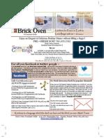 Brick Oven Courtyard Grille Newsletter December 2009