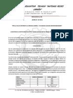 1-Resolucion Labores Nº 001 Año 2014