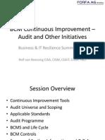 BCM Continuous Improvement v1.0