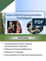 2.5 Cross-cultural Communication