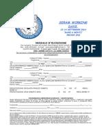 Modulo d'Iscrizione Se.R.A.M. Working Day - Mare & Monti