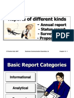 3.3 Reports of Different Kinds - Annual, Status, Survey, Proposal