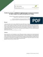 Estudo de Caso Para a Viabilidade de Implementação de Sistema de Tratamento