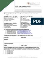 Celta Application Form 2014