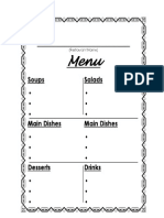 Restaurant menu_template