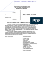 2014-08-08 ECF 21 - Taitz v Johnson - Notice of Schedule Conflict