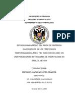 Estudio Comparativo Del Índice de Criterios Dx de Los TTMs y El Índice de Hélkimo. México. Tesis