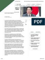 Las razones del primer ministro de Japón, Shinzo Abe, para venir a Colombia - Sectores - ELTIEMPO.COM