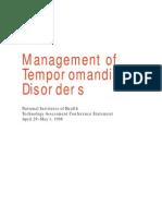 Management of Temporomandibular Disorders