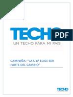 CAMPAÑA TECHO Estrategia Promocional Corregido