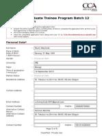 Coca-cola Trainee GTP 12 Application Form