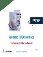 Validated HPLC Methods-Agilent