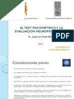 El Test Psicometrico y La Evaluacion Neuropsicologica
