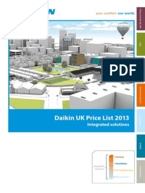 Daikin AC Price List 2013 | Air Conditioning | Hvac