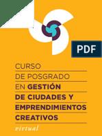 Curso en Gestión de Ciudades y Emprendimientos Creativos VIRTUAL 2014